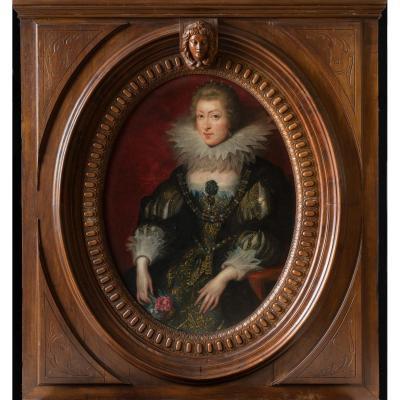 Portrait De La Reine De France Du 19ème Siècle 55 X 51 P