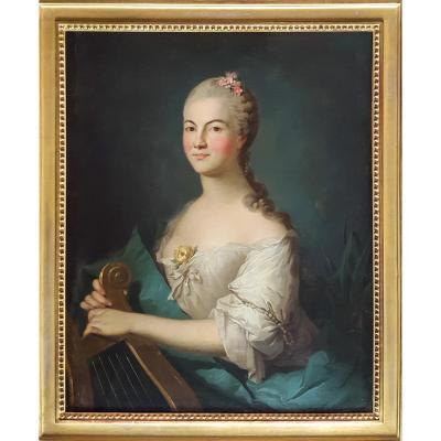Portrait d'Une Femme, France, 18e Siècle