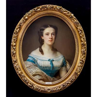 Portrait De Femme Du XIXème Siècle