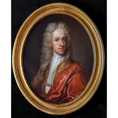 Portrait D'un Gentilhomme, Vers 1720, Pays-bas