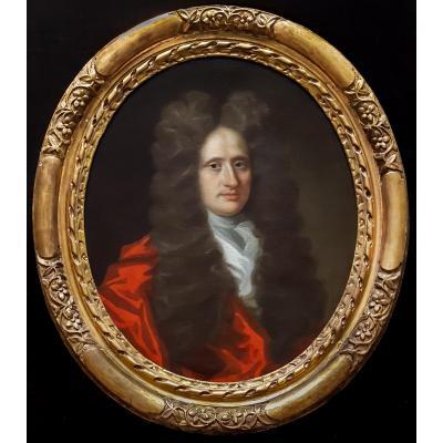 Portrait D'un Gentilhomme Par Un Maître Anglais, 17e Siècle