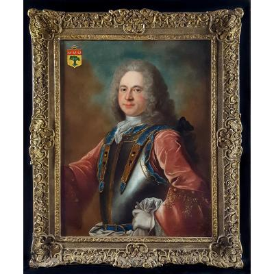 Portrait De Gentilhomme, Française Vers 1720