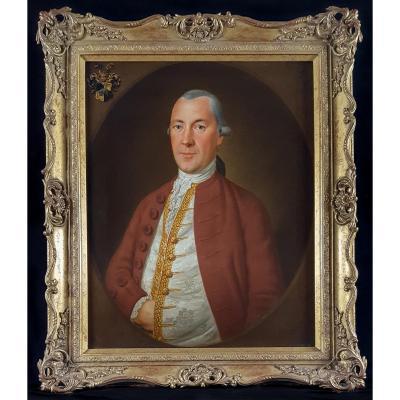 Portrait d'Un Gentilhomme Avec Cimier, XVIIIème Siècle