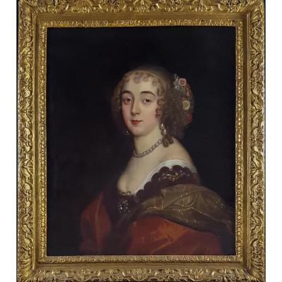 Portrait De La Comtesse De Sunderland, XVIIème Siècle