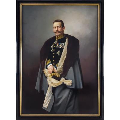 Portrait d'Un Officier, Signé Et Daté De 1896