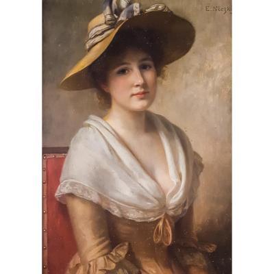 Portrait d'Une Dame, 19ème Siècle