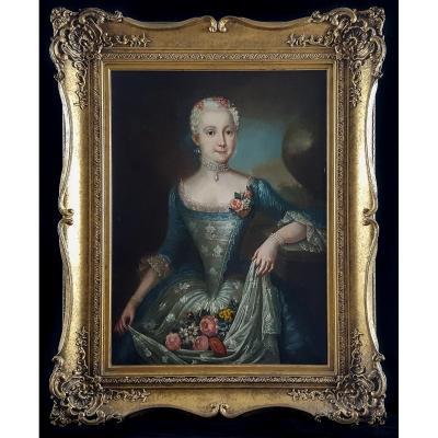 Portrait D'une Fille, Suède, Vers 1750