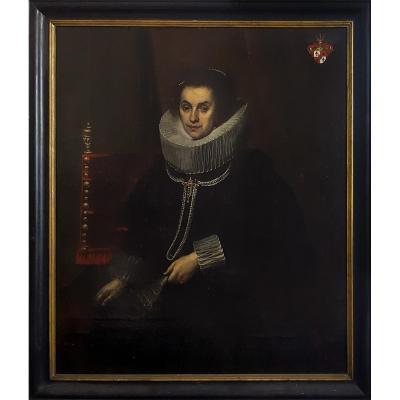 Portait De Dame, Flamande Vers 1620