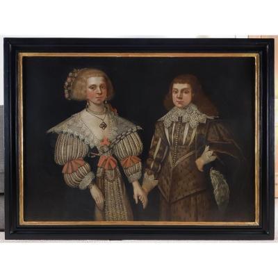 Double Portrait De Deux Enfants Vers 1629