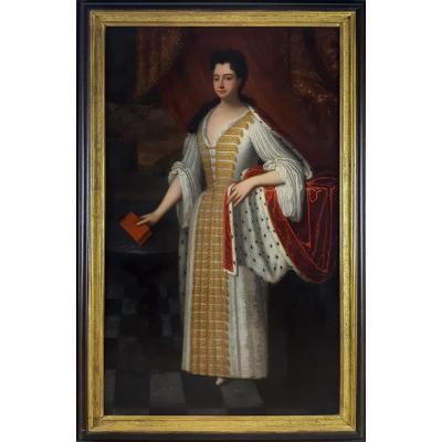 XVIIIe Siècle - Portrait De La Reine Anne, Qui était Alors La Princesse Anne De Danemark