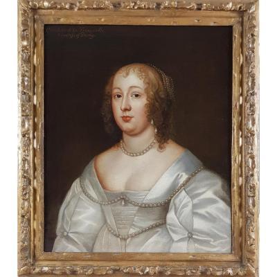 Portrait De Charlotte Stanley,Comtesse De Derby 17ème siècle