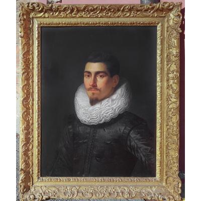 Portrait d'Homme Vers 1620; Par l'Atelier De Michiel Jansz Van Mierevelt (1567-1641)