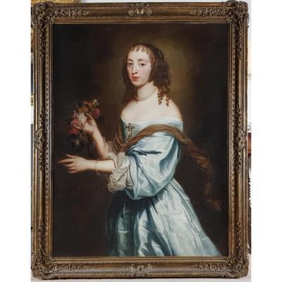 Portrait d'Une Dame Datée, Signée Et Datée 1660