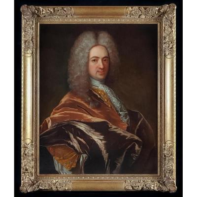 Portrait De Gentilhomme Vers 1715
