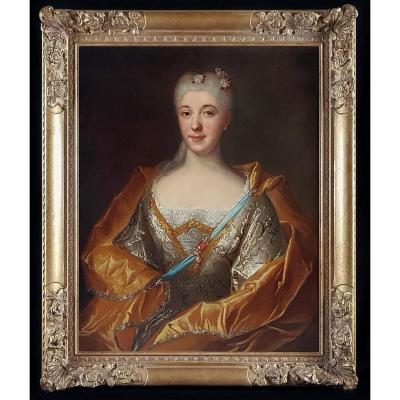 Portrait De Femme Vers 1714