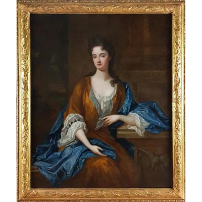 Portrait d'Une Dame D'every Baronets De Derby, En Angleterre Vers 1710