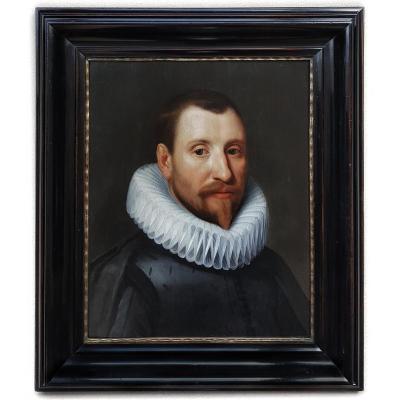 Portrait d'Un Gentilhomme Vers 1620; Atelier De Michiel Jansz Van Mierevelt (1567-1641)