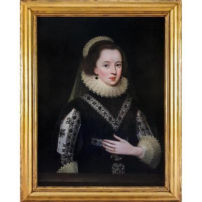 Portrait De Lady Anne Clifford Vers 1618, Comtesse De Dorset Et Pembroke Et De Montgomery