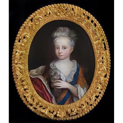 Portrait d'Une Fille Vers 1710