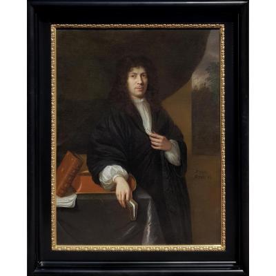 Portrait d'Un Gentilhomme Daté 1683; Attribué à Jan De Baen (1633-1702)