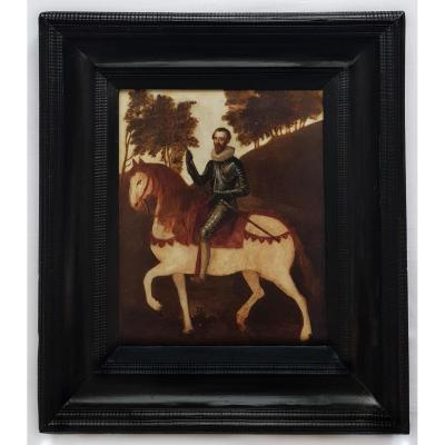 Equestrian Portrait Of A Gentleman C.1620 Follower Of Jean De Saint-igny (c.1595-c.1649)