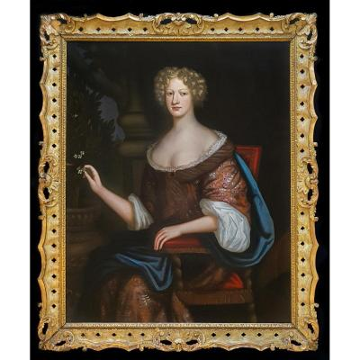 Portrait De Femme Vers 1675; Mesures 147x122cm