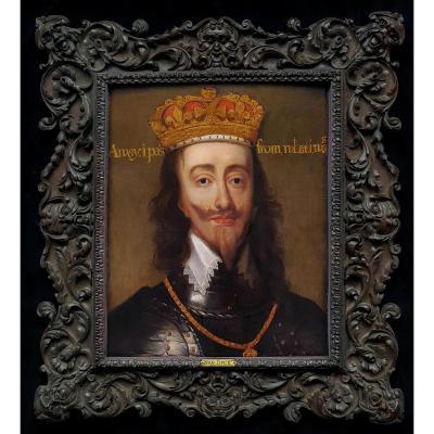 Portrait De Charles I (1600-1649) Roi d'Angleterre, d'Écosse Et d'Irlande