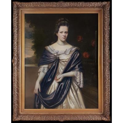 Portrait De Henrica Van Eck, Signé Et Daté 1686