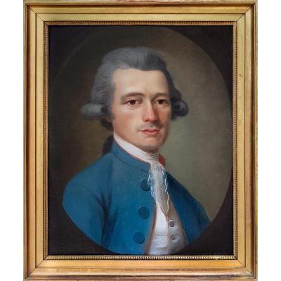 Portrait Of A Gentleman C.1780; Circle Of Antoine Vestier (1740-1824)
