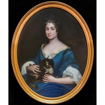 Portrait d'Henriette De Meaux De Valliere Vers 1685