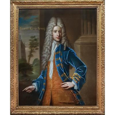 Portrait Of Thomas Gage (c.1684-1716) C.1709; Attributed To Sir Godfrey Kneller (1646-1723)