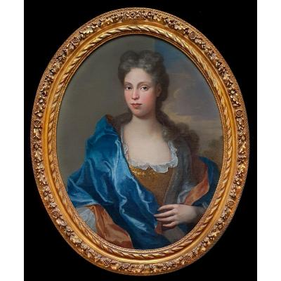 Portrait Of A Lady Circa 1700, Beautiful Frame