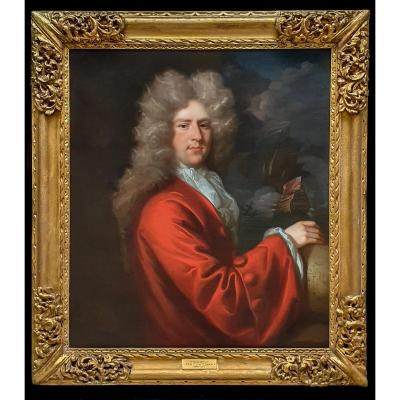 Portrait Of A Captain Sir John Munden (c.1645-1719) C.1692; John Closterman (1660-1711)