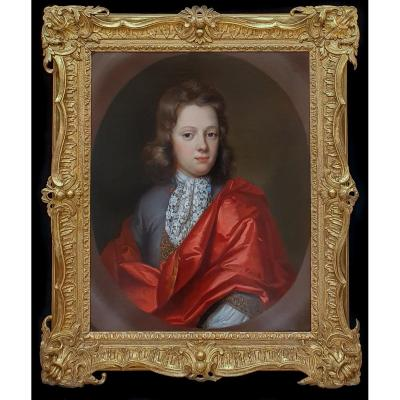 Portrait Of A Young Gentleman Circa 1685; Circle Of Sir Godfrey Kneller (1646-1723)
