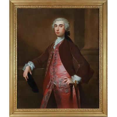 Portrait Of A Gentleman; Studio Or Circle Of Allan Ramsay (1713-1784), Circa 1740