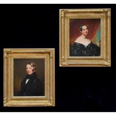 Portrait Of Gentleman & Portrait Of Lady C.1836; Attributed To James Middleton (c.1805-1874)