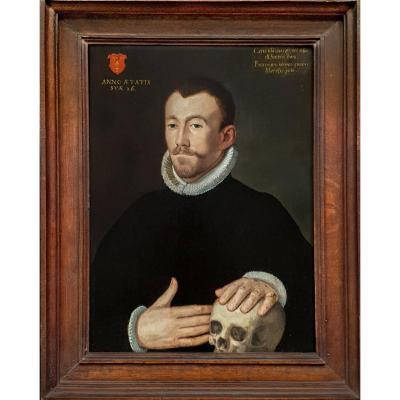 Portrait d'Un Gentilhomme Du XVIe Siècle, Memento Mori