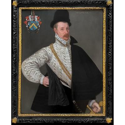 Portrait De Richard Tomkins (c.1532-1603) Vers 1575