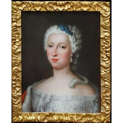 Portrait Of The Duchess Of Brunswick-wolfenbüttel (1715-1797) Circa 1730