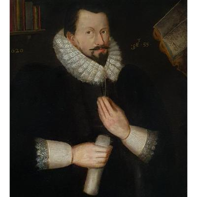 Circa 1620 Portrait Of Sir Richard Bolton;  Follower Of Marcus Gheeraerts (c.1561-1636)