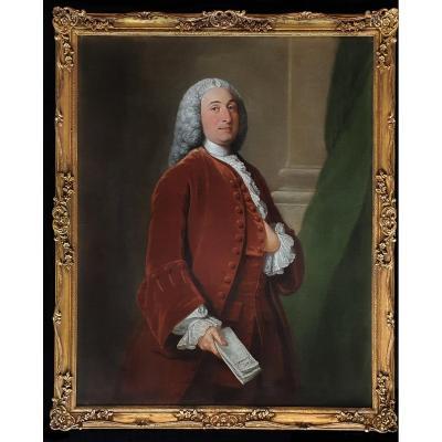 Portrait De Thomas Pelham-holles, 1er Duc De Newcastle (1693-1768) Vers 1750