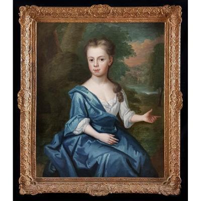 Portrait d'Une Jeune Femme Vers 1720