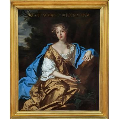 Portrait Of Catherine, Countess Of Rockington (1658-1695) C.1677 Studio Of Sir Peter Lely