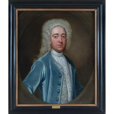 Portrait Of Timothy Mortimer, Signed & Dated 1720; Robert Dellow (c.1696-1736)