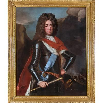 Portrait Of John Churchill, 1st Duke Of Marlborough (1650-1722) C1702 Studio Of Godfrey Kneller