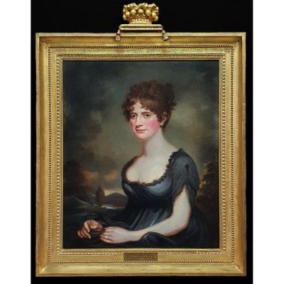 Portrait Of Harriet Robinson (1787-1820) C.1820; Circle Of Sir William Beechey Ra (1753-1839)