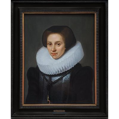Circa 1620 Portrait Of A Lady; Attributed To Michiel Jansz Van Mierevelt (1567-1641)