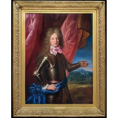 Portrait Of A Young Nobleman In Armour 1690's; Studio Of Francois De Troy (1645-1730)