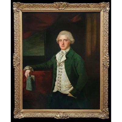 Portrait Of A Gentleman C.1780; Attributed To Mason Chamberlain R.a. (1727-1787)