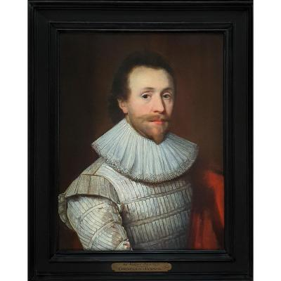 Portrait Of A Gentleman In A White Doublet C.1620; Attrib. To Cornelius Johnson (1593-1661)